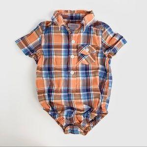 Joe fresh button up shirt/ onesie